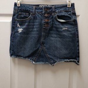 Rewash Button Fly Hot Jeans Skirt  Large